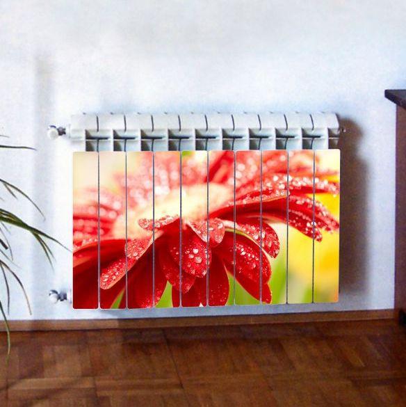 """Фотодекор для радиатора отопления """"Цветы 0005"""""""