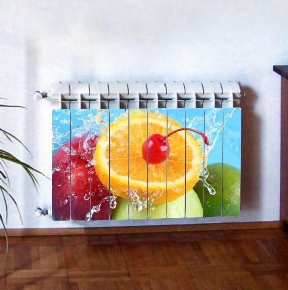 """Фотодекор для радиатора отопления """"Кухня 0001"""""""