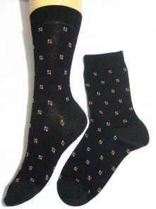 Носки мужские | Классик, черные | рисунок - квадратики