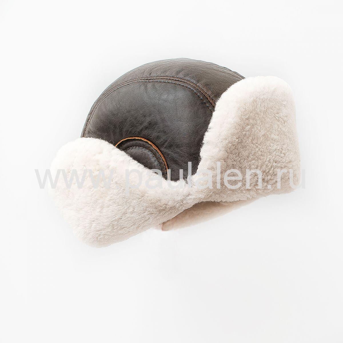 Модная меховая шапка Авиатор