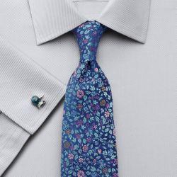 Мужская рубашка под запонки серая Charles Tyrwhitt приталенная Slim Fit (FM050GRY)