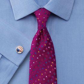 Мужская рубашка под запонки синяя Charles Tyrwhitt не мнущаяся Non Iron сильно приталенная Extra Slim Fit (RJ053BLU)