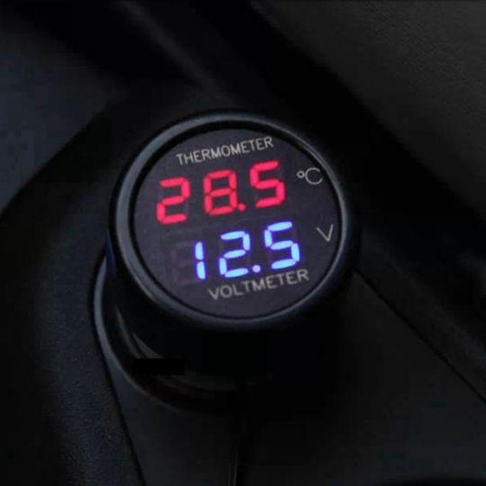 Цифровой термометр+вольтметр в автомобиль.