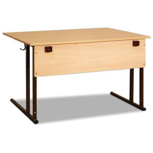 Стол ученический двухместный с розетками