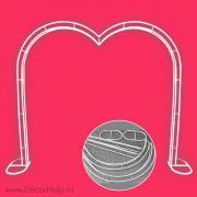 Свадебная арка для регистрации сердце (каркас)