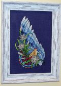 Схема для вышивки крестом Ловец снов - Птица. Отшив