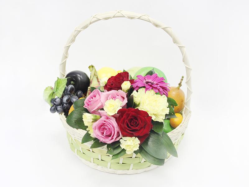 Фруктово-цветочная корзина Весенний блюз