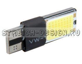 Светодиодная лампа T10 2 COB белая 12V