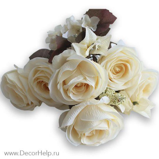 Розы кремовые (10шт) арт: DCR001