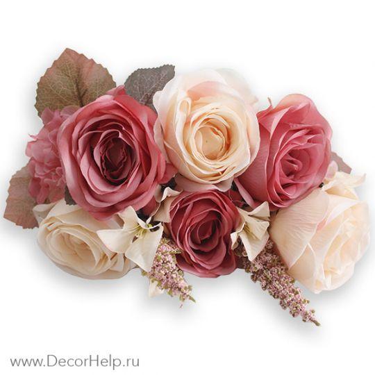 Розы розовые (10шт) арт: DCR002