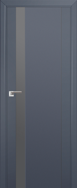 Межкомнатная дверь Профильдорс 62U Антрацит, серебряный лак