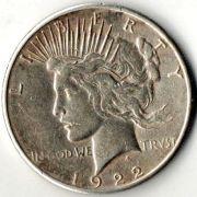 1 доллар. США. 1922 год. Серебро.