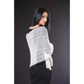 Оренбургский пуховый шарф ажурный 120*40 см
