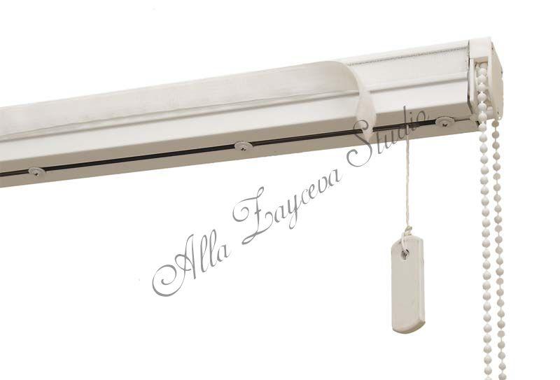 Карниз КОМПАКТ с подъемным механизмом для римских штор (Полная комплектация)