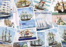 Postcard Stamps. Sailboats