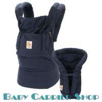 Комплект для новорожденного ERGO BABY CARRIER Bundle of Joy Organic Слинг-рюкзак «Twill Navy» + Вставка  «Infant Insert Heart2Heart Twill Navy» [Эрго Беби BCII12TOMNL набор эргорюкзак+вставка Темно-Синий]