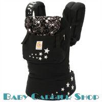 Слинг-рюкзак ERGO BABY CARRIER Эргорюкзак для переноски малышей «Night Sky Original» [Эрго Беби BCEPR001NL слингорюкзак Ночное Небо (черный со звездами)]