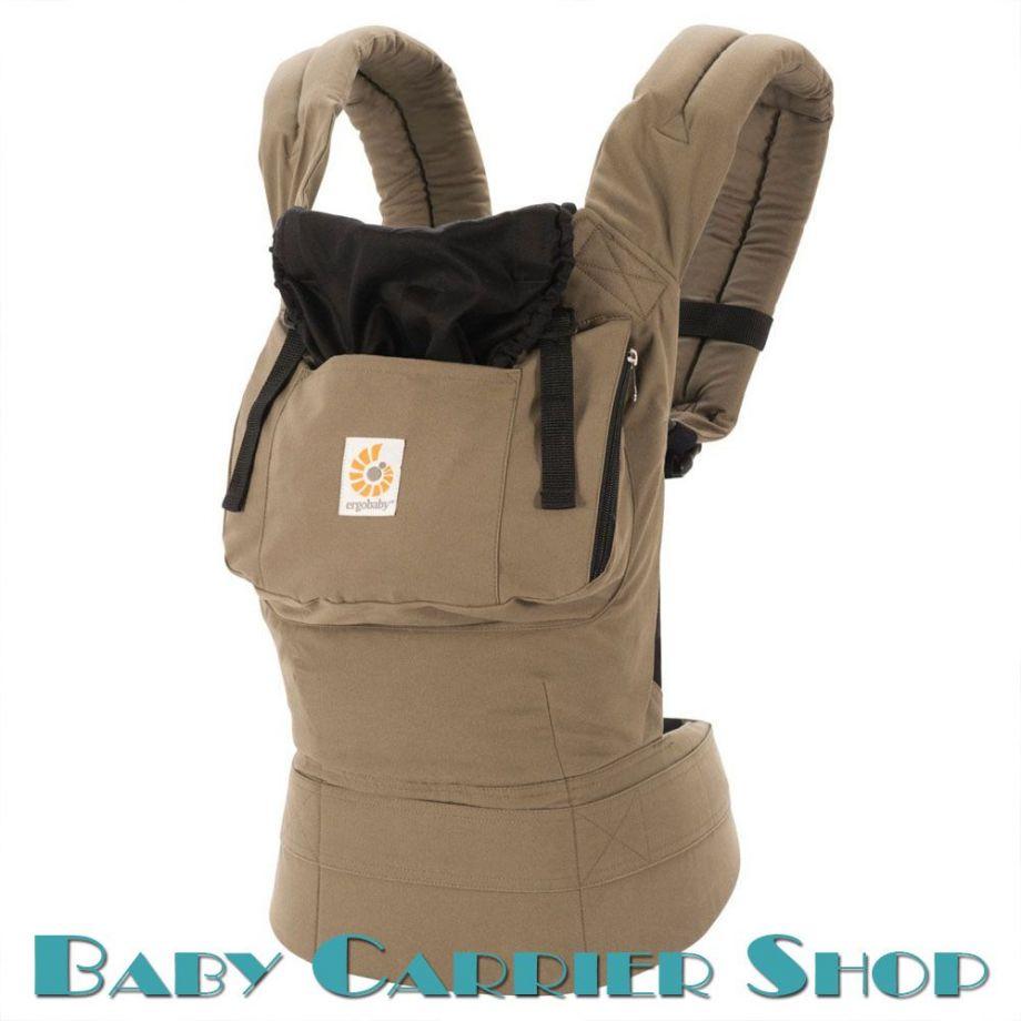 Слинг-рюкзак ERGO BABY CARRIER Эргорюкзак для переноски малышей «Outback / Aussie Khaki Original» [Эрго Беби BC25200NL слингорюкзак Аутбэк/Австралийский Хаки]