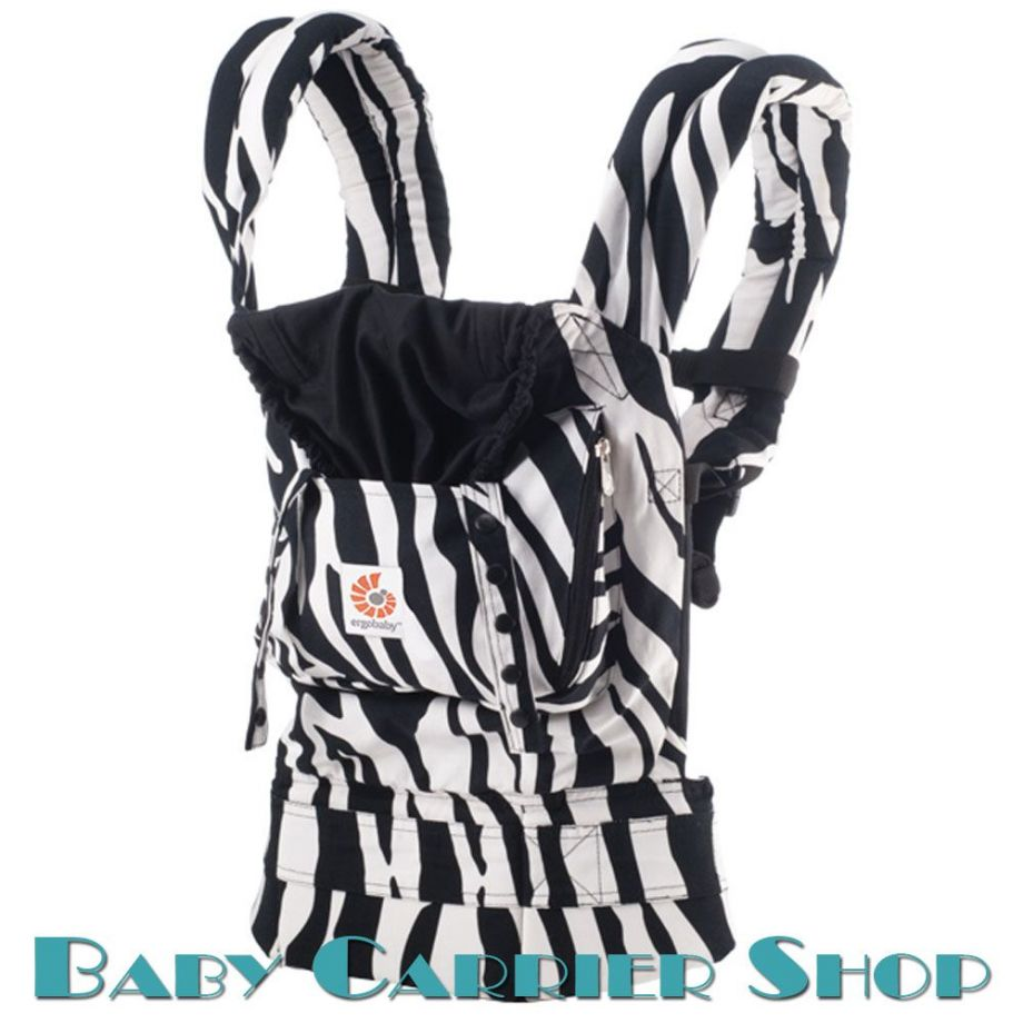 Слинг-рюкзак ERGO BABY CARRIER Эргорюкзак для переноски малышей «Zebra Original» [Эрго Беби BCZEB001NL слингорюкзак Зебра]