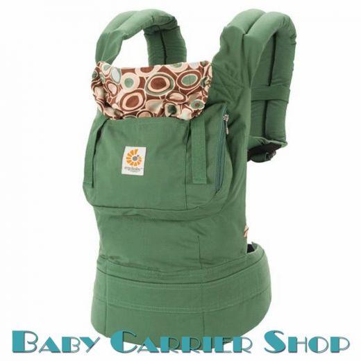Слинг-рюкзак ERGO BABY CARRIER Эргорюкзак для переноски малышей «River Rock Green Organic» [Эрго Беби BCO313PRNL слингорюкзак Морская галька]