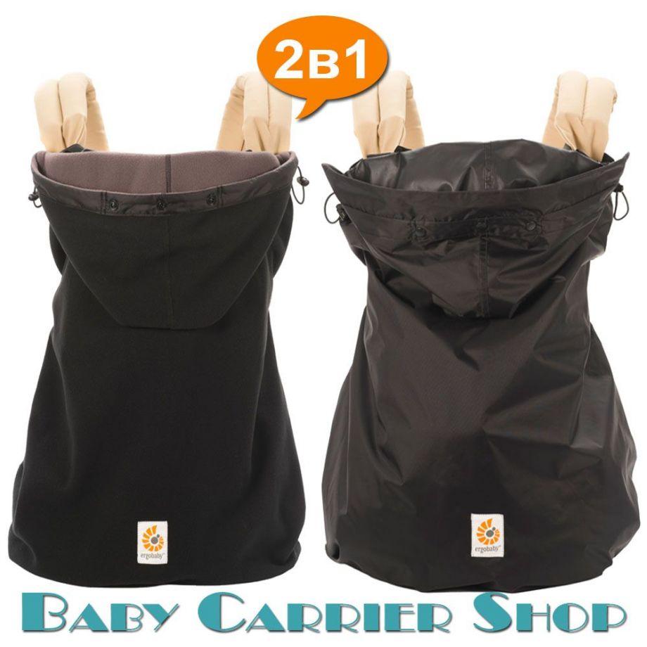 Комплект из 2-х накидок для слинг-рюкзака на непогоду ERGO BABY «RAIN WATER RESISTANT & WINTER WEATHER COVERS Black» [Эрго Беби WCW001030NLwWCR001NL черный]