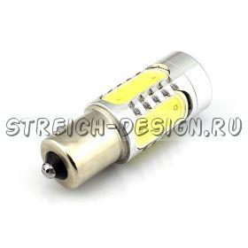 Светодиодная лампа 1156(один контакт) COB 7W белая 12V