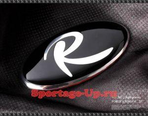 """Эмблема """"R"""" на руль, VIP KOZON"""