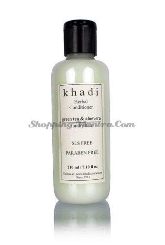 Кондиционер для сухих волос Зеленый чай&Алое вера без парабенов и SLS / Khadi Greentea Aloevera Hair Conditioner SLS Paraben Free