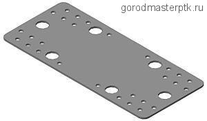 Пластина крепежная оциинк. перфорир. 205х90х2 мм