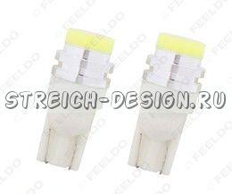 Светодиодная лампа T10 COB Ceramic W5W 1W белая 12V
