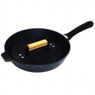 Сковорода-гриль чугунная Добрыня DO-3305 (28 см.) (код 42)