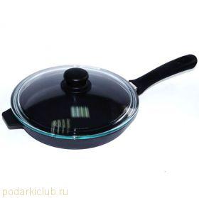 Сковорода с крышкой чугунная Добрыня DO-3320 26 ( см.) (код 36)