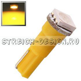 Светодиодная лампа T5 1SMD 5050 желтая 12V