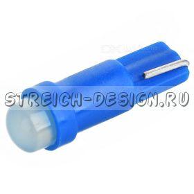 Светодиодная лампа T5 COB синяя 12V