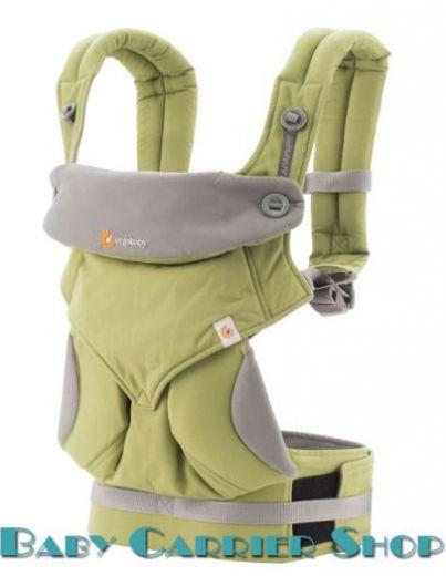 """Слинг-рюкзак ERGO BABY CARRIER Эргорюкзак для переноски малышей «Green Four Position 360» [Эрго Беби BC360A2F14 слингорюкзак """"лицом к миру"""" 360-Зеленый]"""