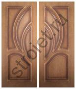 Двери Карелия-2 шпон орех глухие