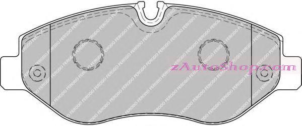 Накладка дискового тормоза: VIANO / SPRINTER [906] передние 3.0-3.5T