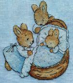 Схема для вышивки крестом Little bunny. Отшив.