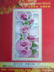 """Купить набор для вышивания крестом """"Розы с капелькой"""" (шелковые нити)"""