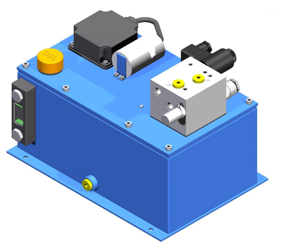 UHВZ  компактная  насосная станция  с двигателем, погруженным в бак