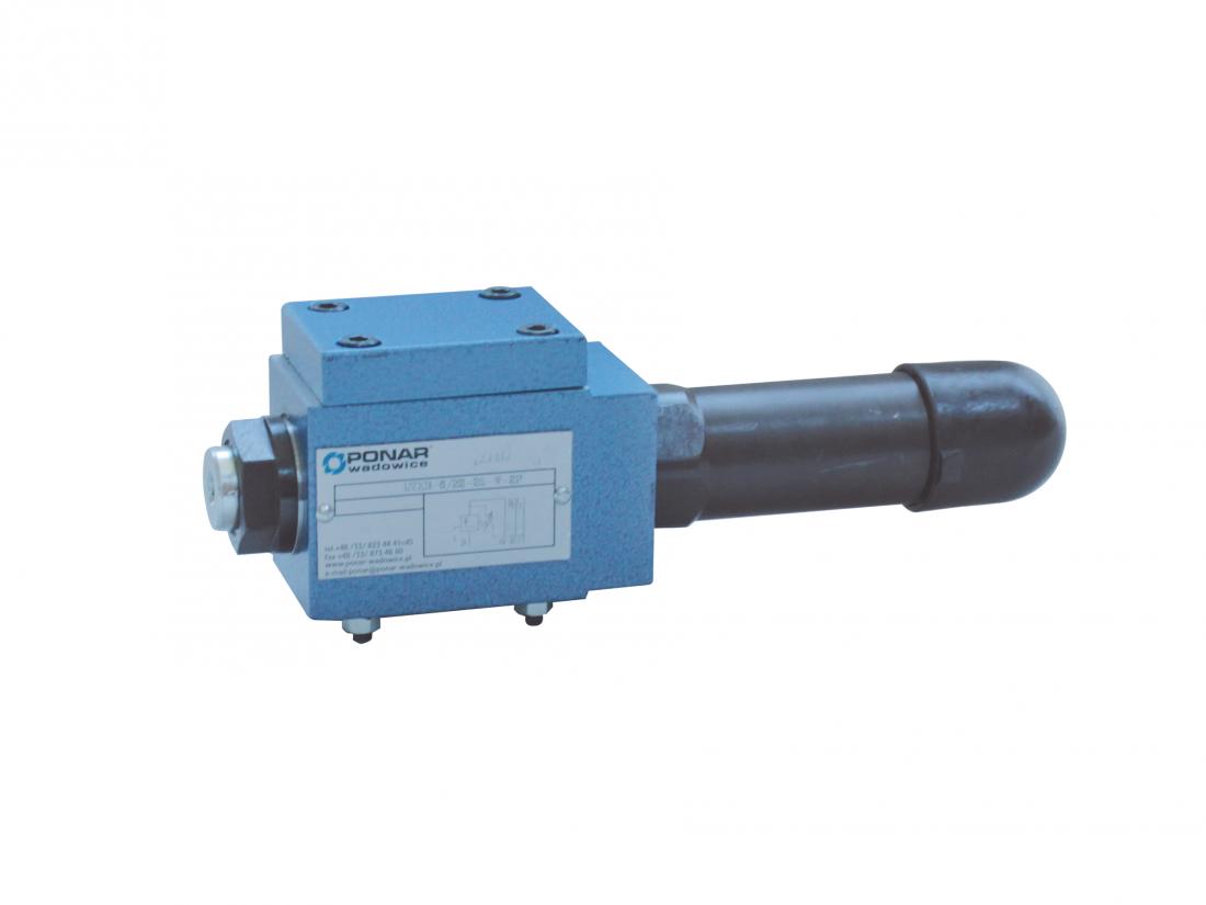 UZКВ6  клапан присоединительный плитового монтажа прямого действия