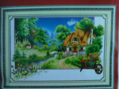 """Купить набор для вышивания крестом """"Лето в деревне"""" 6D"""