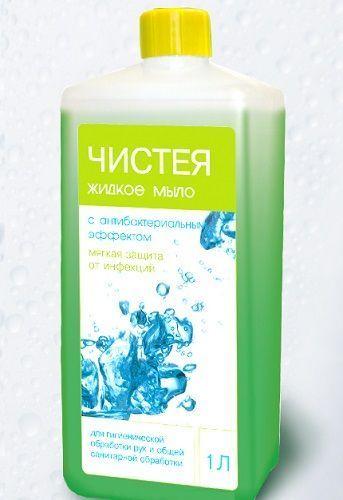 Мыло жидкое Чистея 1л.антибактериальное