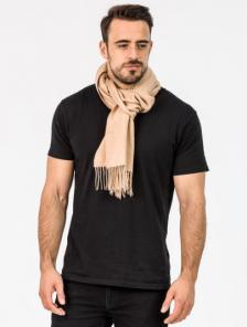 однотонный кашемировый шарф (100% драгоценный кашемир)  , цвет Бежевый  , высокая плотность 7