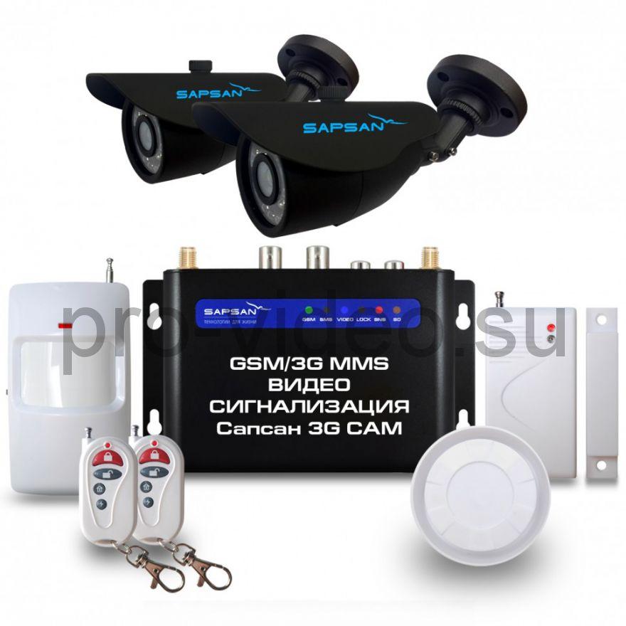 """GSM сигнализация Sapsan GSM MMS 3G CAM """"Дача"""" с датчиками, 2-мя уличными в/камерами, функцией Видеозвонок"""
