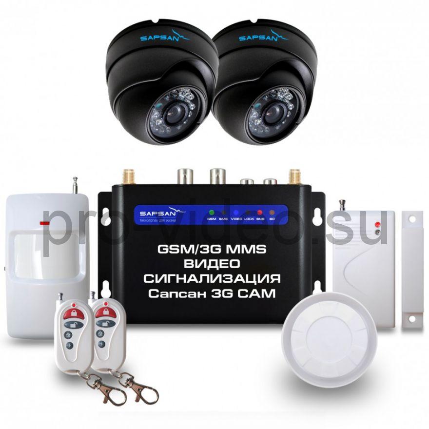 """GSM сигнализация Sapsan GSM MMS 3G CAM """"Дом"""" с датчиками, 2-мя комнатными в/камерами, функцией Видеозвонок"""