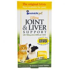 Ultra Joint & Liver Support, 100 mg, 30 таблеток - для кошек и маленьких собак