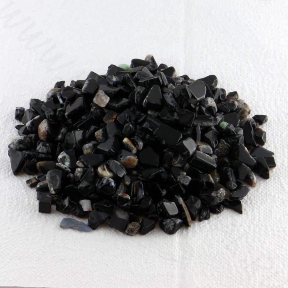 Мелкая галька - Агат черный