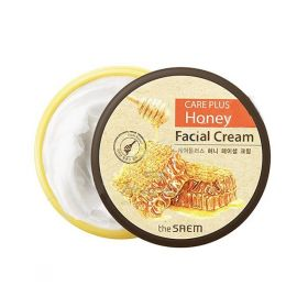 THE SAEM CARE PLUS HONEY FACIAL CREAM 200ml - медовый крем для лица