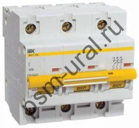 Автоматический выключатель ВА 47-100 3P 63A